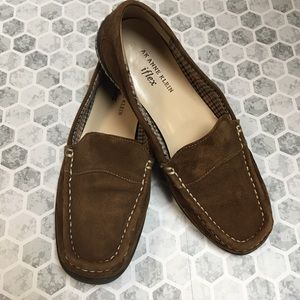 ANNE KLEIN iflex brown loafers size 8